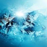 Frosty  winter pattern Royalty Free Stock Photo