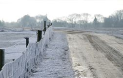 Frosty country road Royalty Free Stock Photos
