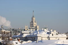 Frosty day in Moscow Stock Photography
