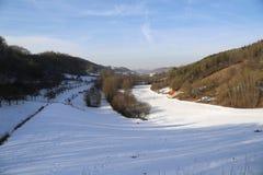 Frosty Day. Winter landscape  / Frosty Day / Oberstetten Germany Stock Photography