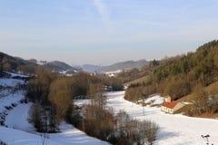 Frosty Day. Winter landscape  / Frosty Day / Oberstetten Germany Stock Images