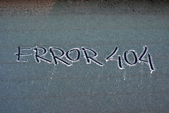 Frosty error 404 Stock Images