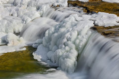 Frosty Falling Water Royalty Free Stock Image