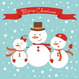 Frosty family Royalty Free Stock Images