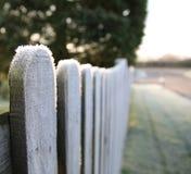 Frosty fence Stock Image