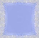 Frosty frame. With ice crystals on the glass Royalty Free Stock Image