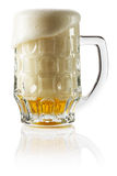 Frosty fresh beer with foam  background Royalty Free Stock Photography