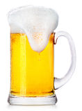 Frosty fresh beer with foam Royalty Free Stock Photo