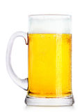 Frosty fresh beer with foam Royalty Free Stock Photography