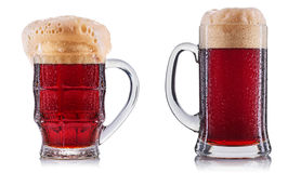 Frosty glass of beer isolated Royalty Free Stock Image