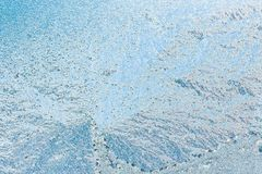 Frosty Glass Ice Background blu, bello modello naturale del ghiaccio di gelo fotografia stock