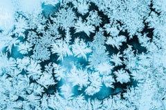 Frosty Glass Ice Background, natürliches Muster Winter-abstrakter Hintergrund Stockfotografie