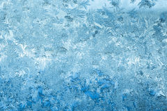 Frosty Glass Ice Background, teste padrão natural Contexto abstrato do inverno Foto de Stock