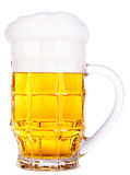 Frosty glass of light beer isolated Stock Images