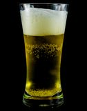 Frosty glass of light beer. Set isolated on a black background Stock Photography