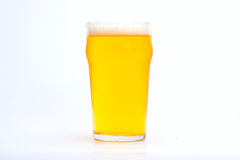 Frosty glass of light beer. Set isolated on a white background royalty free stock image