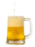 Frosty glass of light beer Royalty Free Stock Photography