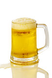 Frosty glass of light beer Stock Photo