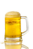 Frosty glass of light beer Royalty Free Stock Photos