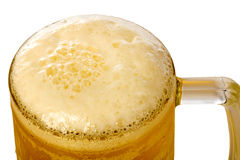 Frosty glass of light beer Royalty Free Stock Image