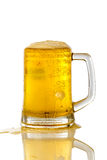 Frosty glass of light beer Royalty Free Stock Photo