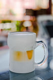 Frosty glass of light beer Royalty Free Stock Images