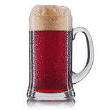 Frosty glass of red beer isolated on a white background Stock Photo