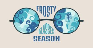 Frosty Glasses and Relative Text Stock Photo