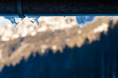 Frosty gutter Royalty Free Stock Photography