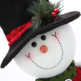 Frosty. Happy Snowman is well dressed for the winter holidays Royalty Free Stock Photo