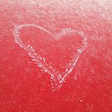 frosty heart Royalty Free Stock Photography