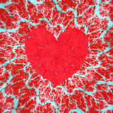 Frosty heart, love and Valentine`s day raster illustration stock image