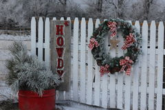 Frosty Howdy Christmas Royalty Free Stock Images