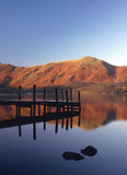 Frosty jetty, Derwentwater, Cumbria Royalty Free Stock Photos