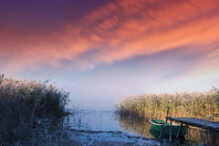 Frosty lake in autumn 2 Royalty Free Stock Photography