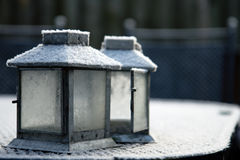 Frosty lanterns Royalty Free Stock Image