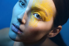 Frosty makeup - cool elegance Stock Photo