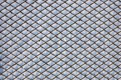 Frosty mesh fence Stock Photos