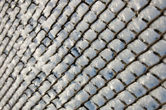 Frosty mesh fence Stock Image