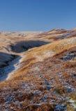Frosty moorland landscape Stock Photo