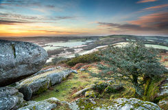 Frosty Morning at Helman Tor in Cornwall Royalty Free Stock Photos