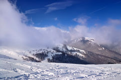 Frosty morning in the mountains Royalty Free Stock Photos