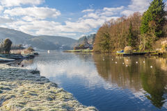 Frosty morning beside the River Lerryn Stock Photography