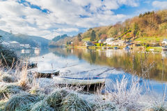 Frosty morning beside the River Lerryn Royalty Free Stock Photos