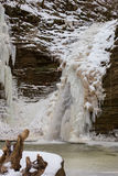 Frosty morning at the waterfalls Royalty Free Stock Photography