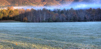 Frosty Mountain Morning HDR Stock Image