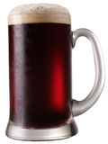 Frosty mug of  beer. Frosty mug of  beer isolated on a white background. File contains a path to cut Royalty Free Stock Image