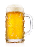 Frosty mug of beer Stock Image