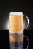 Frosty Mug Beer Mug. On Black Background Stock Image