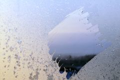 Frosty natural pattern. On winter window Stock Photography